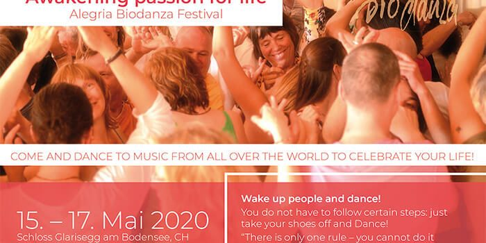 Flyer Alegria Biodanza Festival Glarisegg