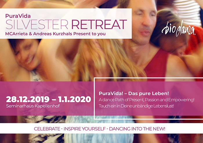 Biodanza Silvester Dance Retreat Frontseite