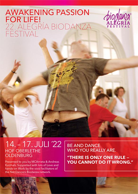Flyer Biodanza Festival 2022 in Oberlethe front